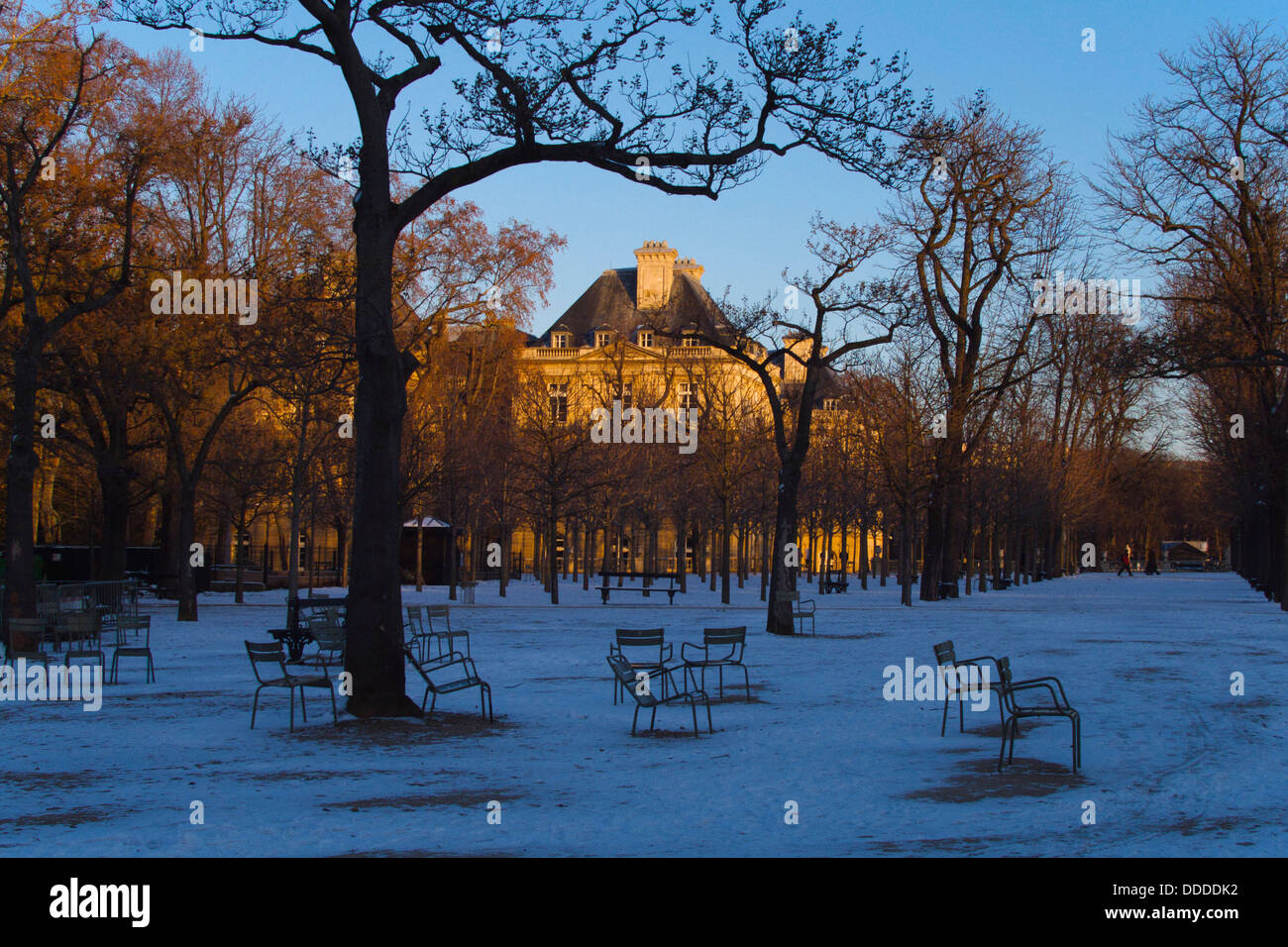 Jardin Du Luxembourg In Winter Stock Photo 59917734 Alamy