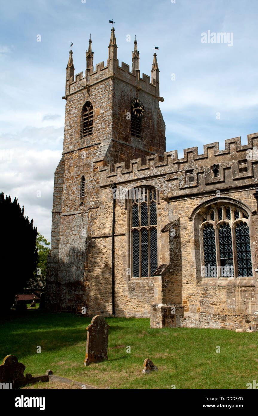 St. James Church, Somerton, Oxfordshire, England, UK - Stock Image
