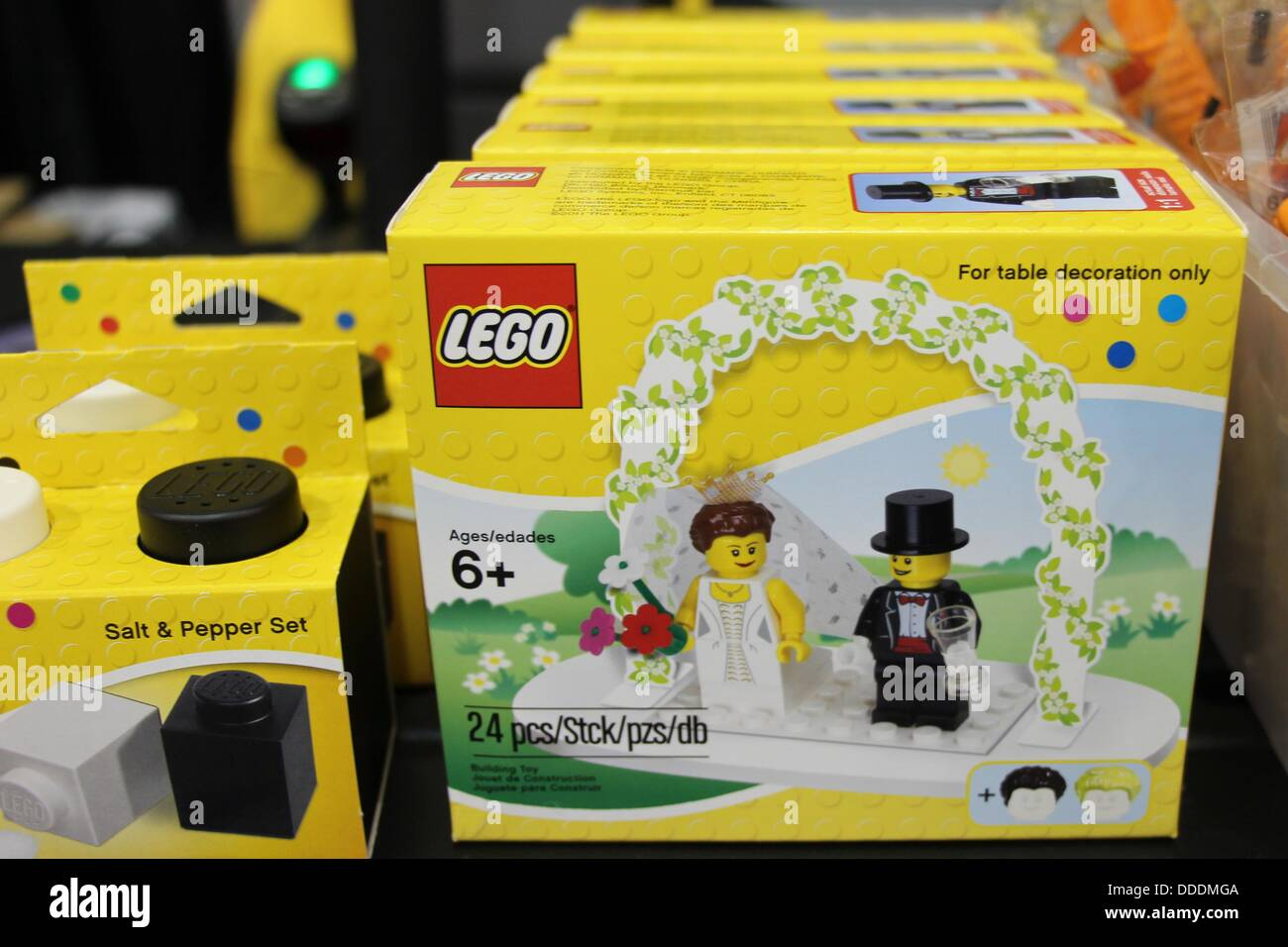 Lego Wedding Cake Topper And Salt And Pepper Set Stock Photo