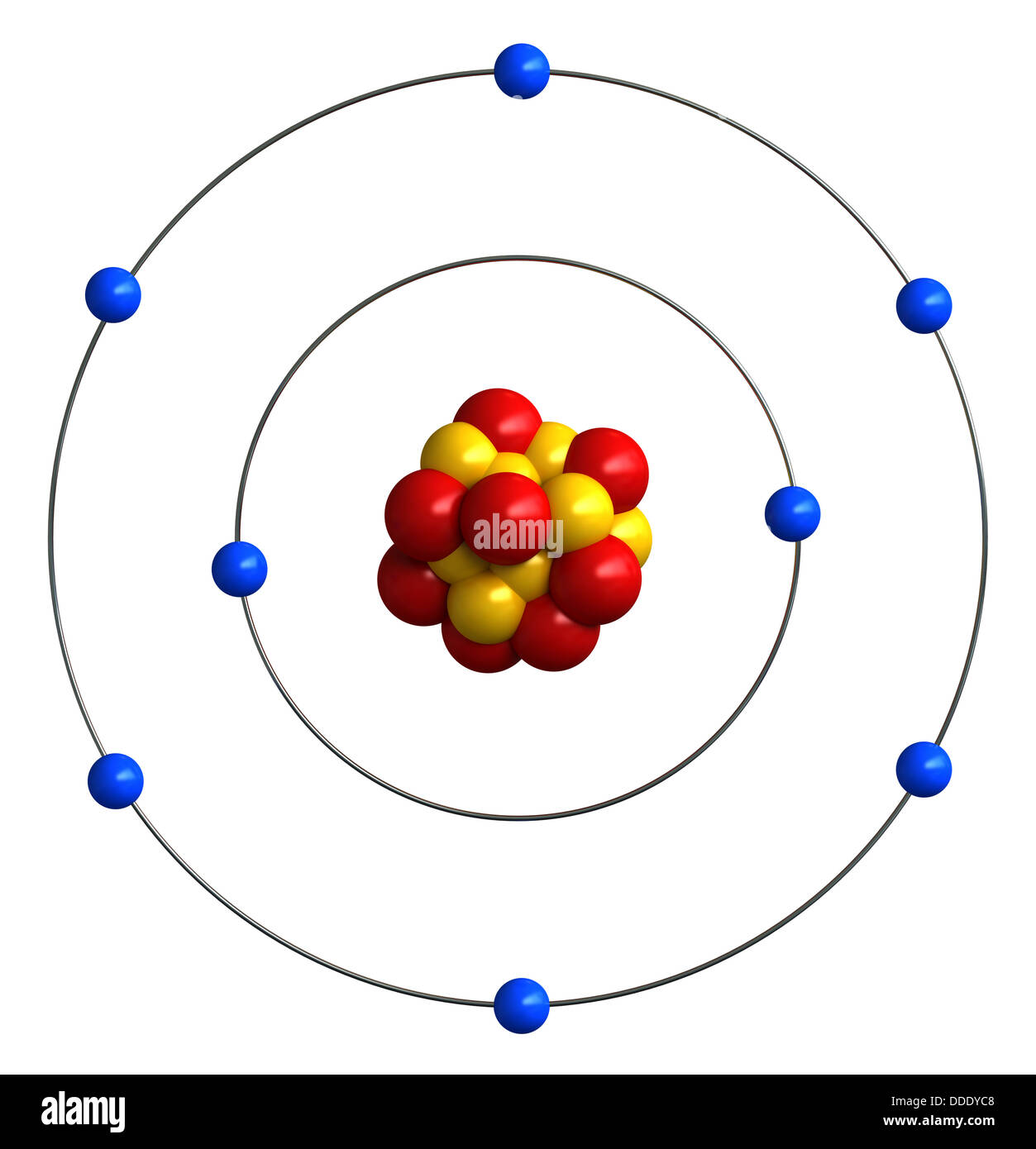 Atomic structure of oxygen Stock Photo: 59928520 - Alamy on