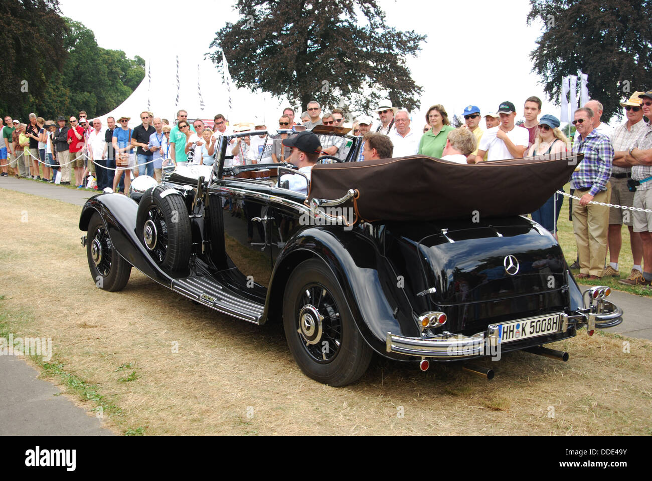 classic Mercedes at Classic Days 2013 at Dyck Castle near Düsseldorf, North Rhine Westphalia, Germany, Europe - Stock Image