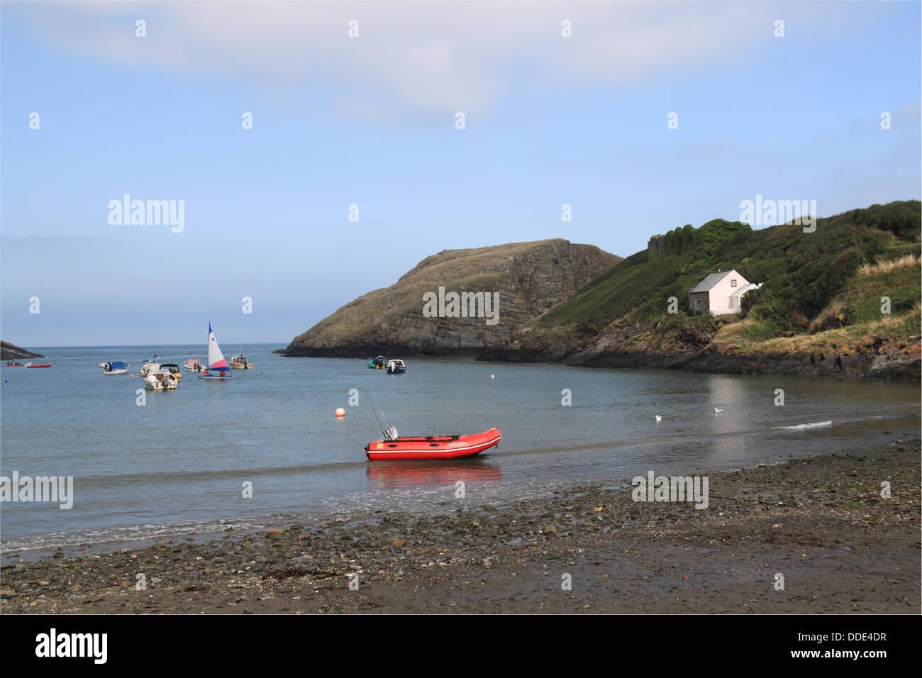 Abercastle bay, Pembrokeshire, Wales, Great Britain, United Kingdom, UK, Europe - Stock Image