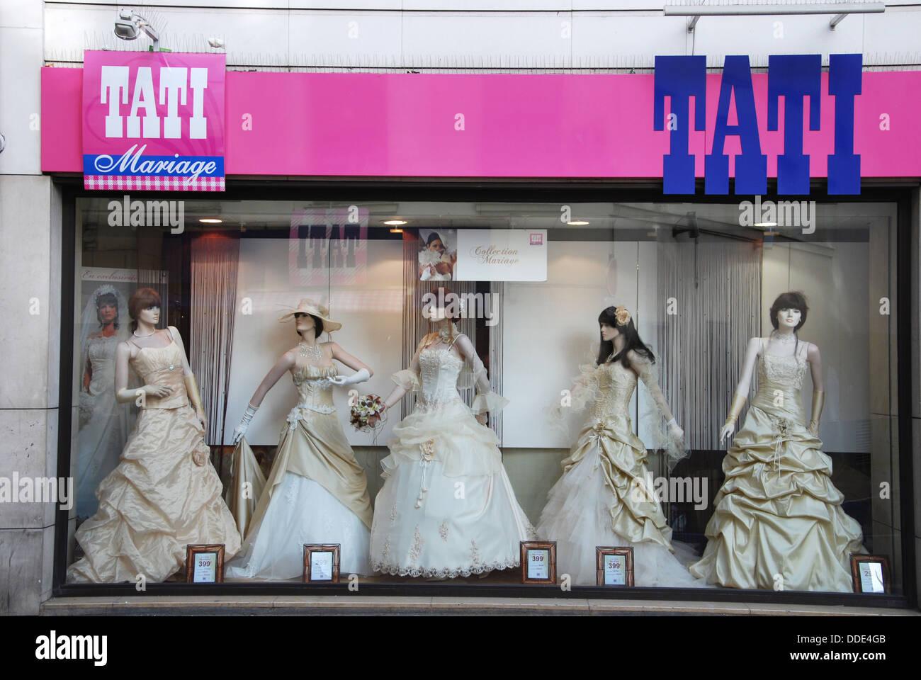 tati department store famous for its bargain prices paris france stock photo 59932555 alamy. Black Bedroom Furniture Sets. Home Design Ideas