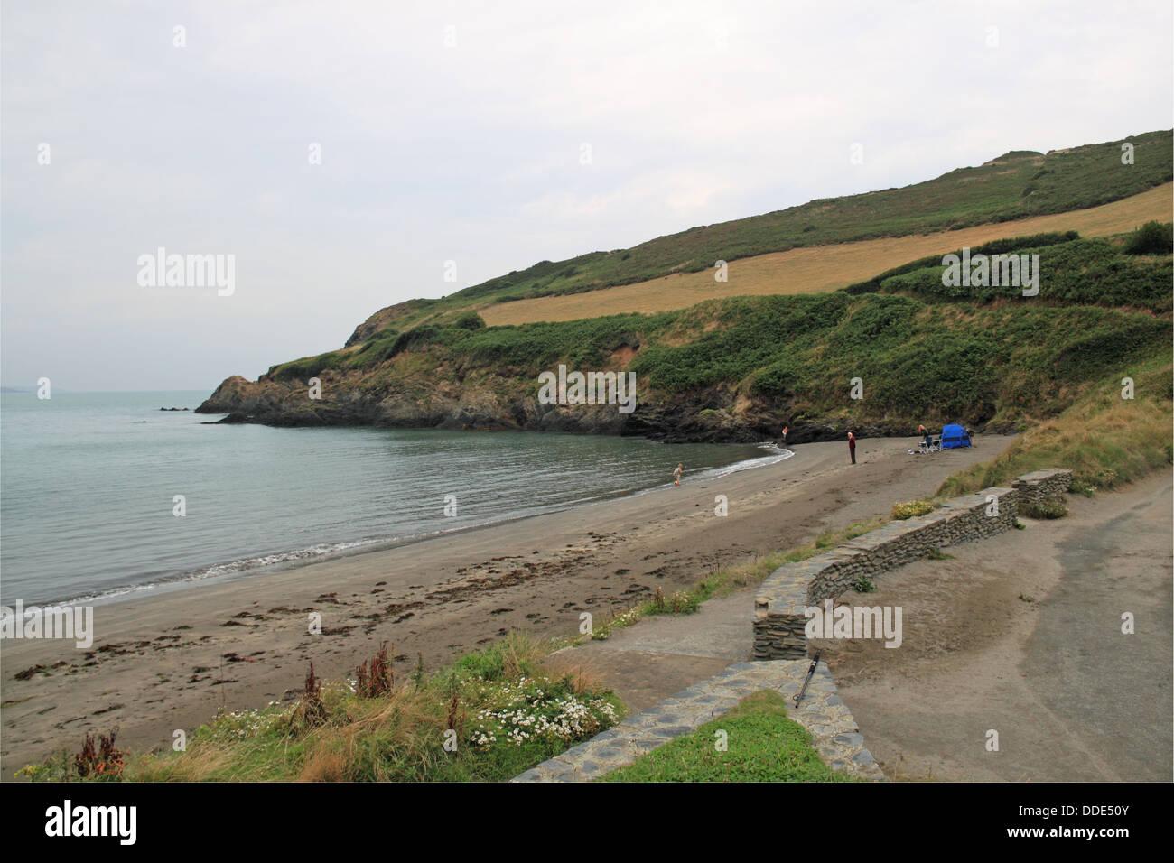 Pwllgwaelod beach, Pembrokeshire, Wales, Great Britain, United Kingdom, UK, Europe - Stock Image