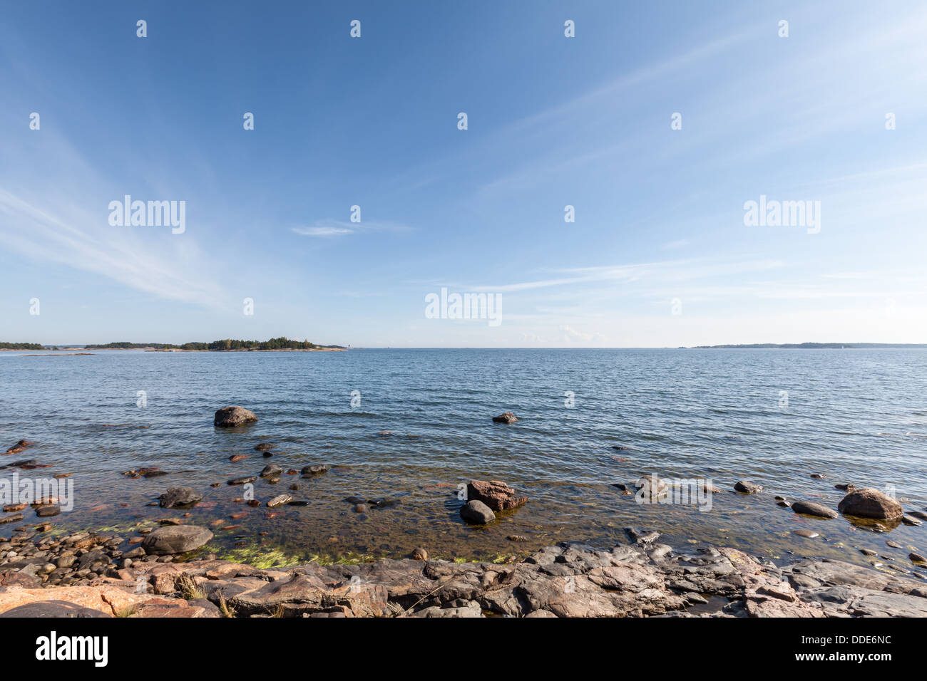A beautiful view of the Baltic Sea - Stock Image