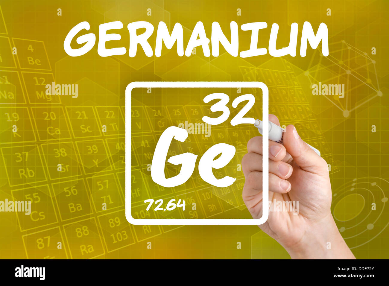 Symbol For The Chemical Element Germanium Stock Photo 59934531 Alamy