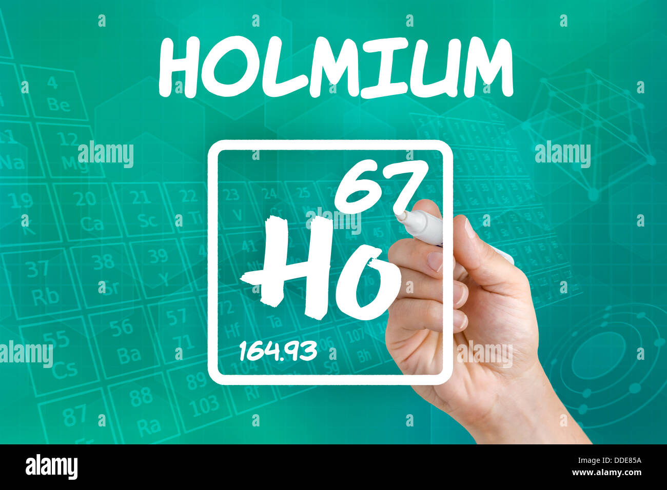 Symbol For The Chemical Element Holmium Stock Photo 59935382 Alamy