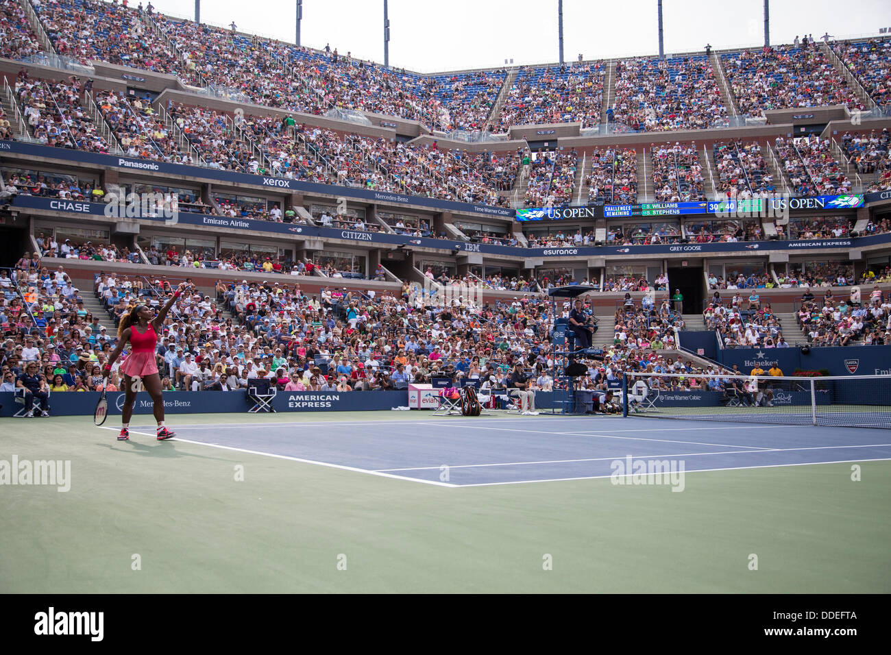 Flushing Meadows-Corona Park, Queens, NewYork, September 01, 2013 Serena Williams (USA) competing against Sloane - Stock Image