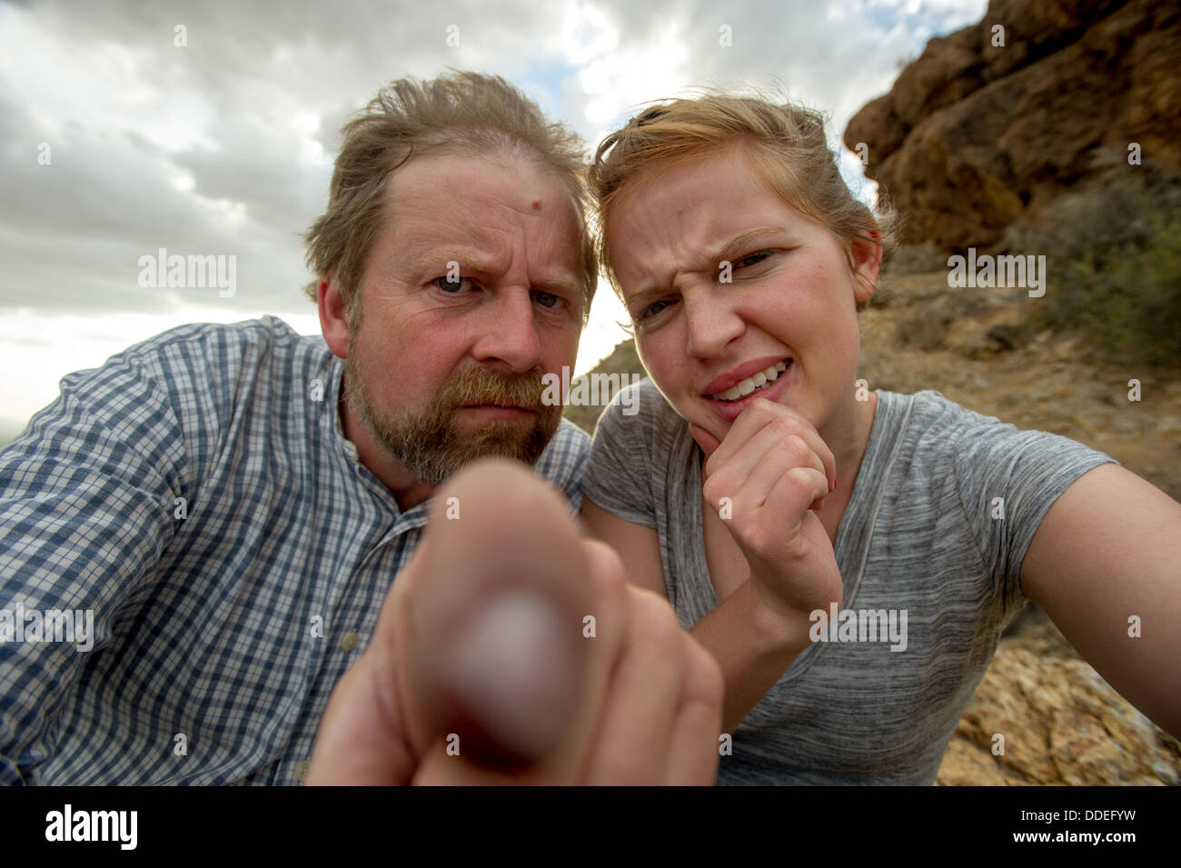 Confused man and Woman - Stock Image