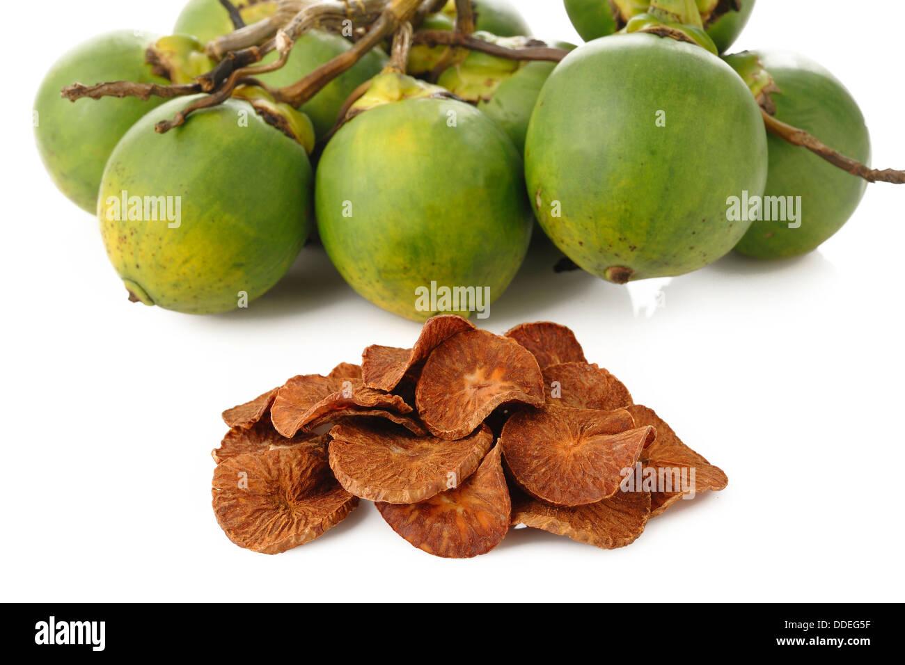 Dried Betel Nut - Stock Image