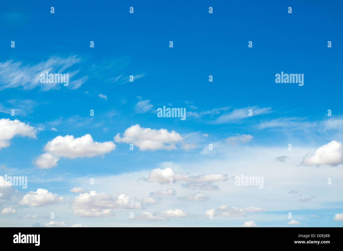 Blue sky with white clouds. - Stock Image