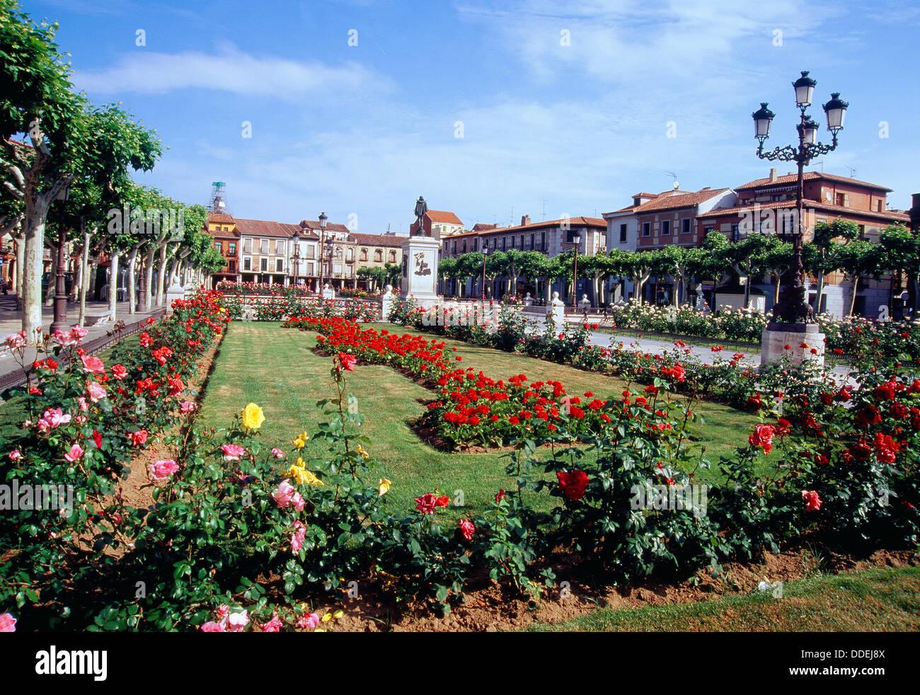 Cervantes Square. Alcala de Henares, Madrid province, Spain. - Stock Image