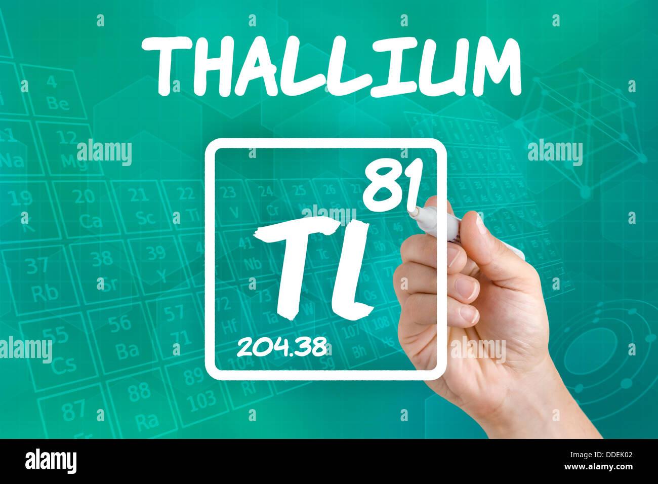Symbol for the chemical element thallium stock photo 59943858 alamy symbol for the chemical element thallium urtaz Choice Image