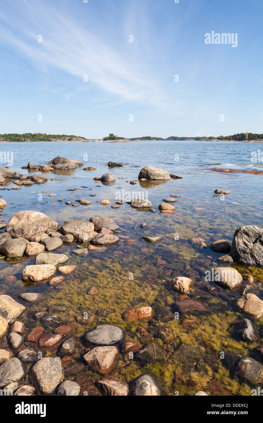 Summery view of Baltic Sea - Stock Image