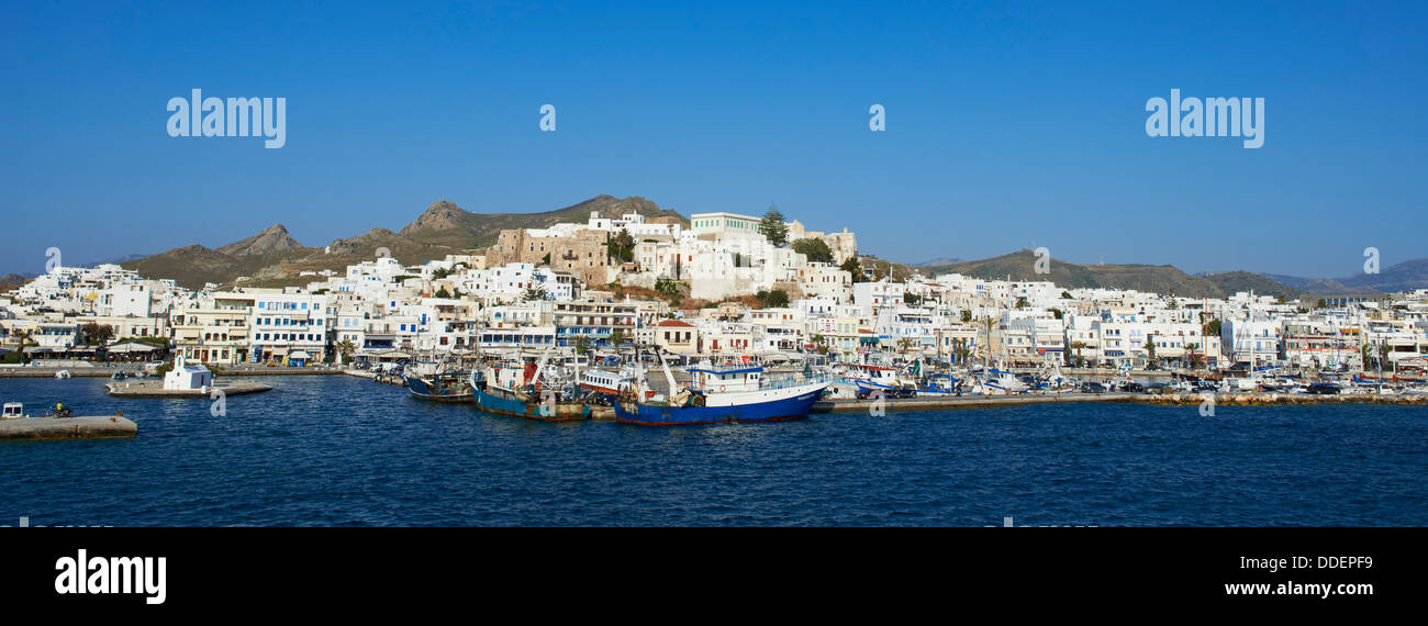 Greece, Cyclades islands, Naxos, city of Hora (Naxos) - Stock Image