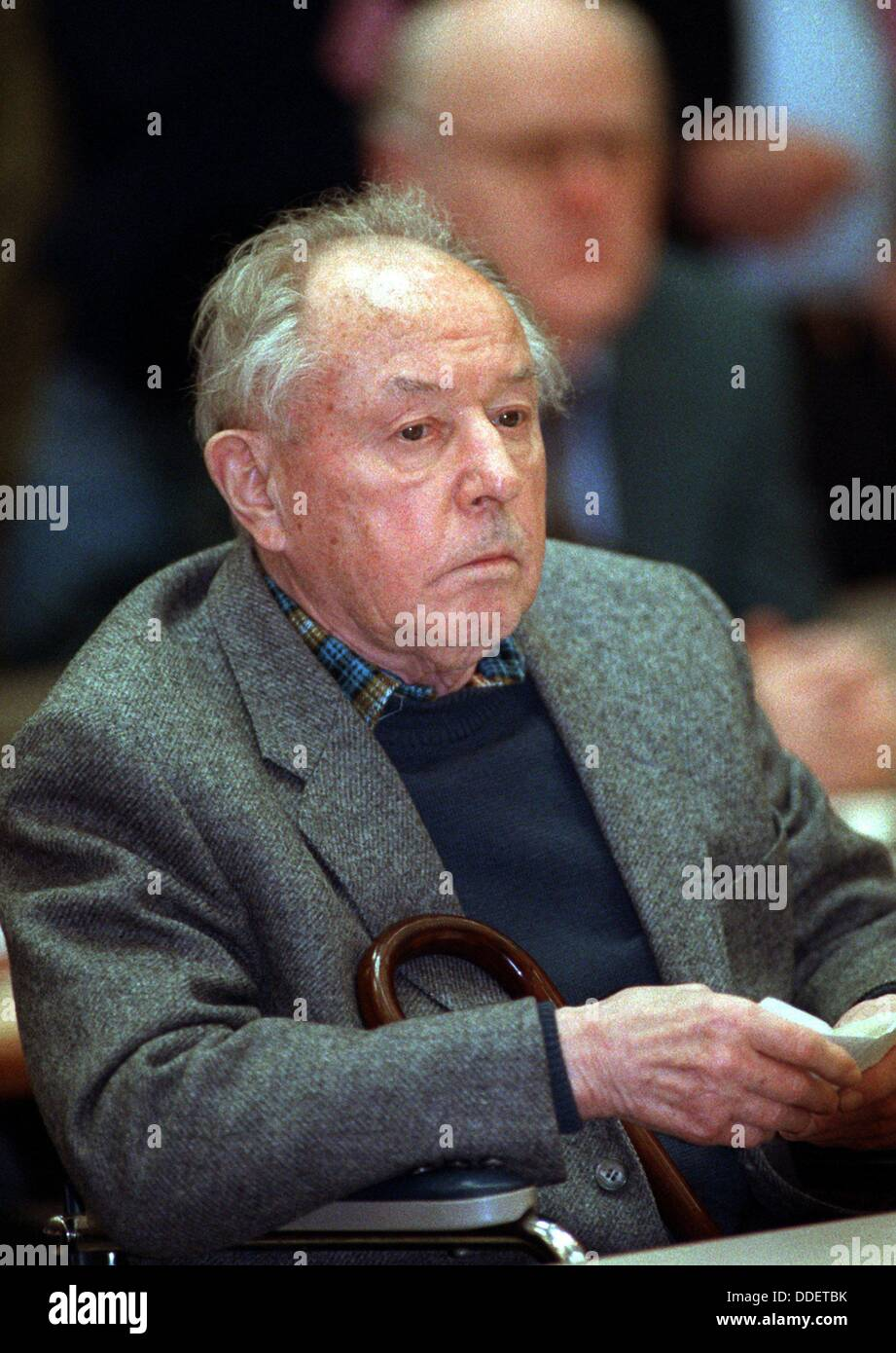 (dpa files) - Erich Mielke, former Minister of National Security (Staatssicherheit) in the GDR, pictured during - Stock Image