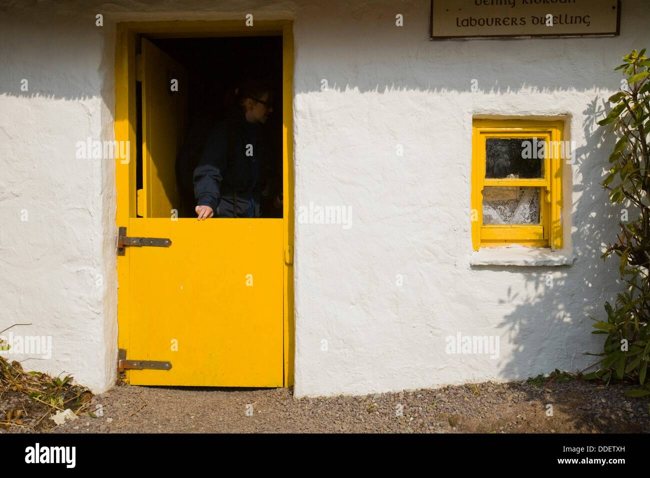 Picturesque cottage with yellow door and windows in Ireland Europe & Picturesque cottage with yellow door and windows in Ireland Europe ...