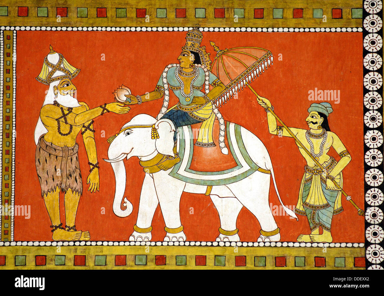 Murals (vegetable and herbal dyes) of Thiruvilayadal Puranam (Lord Shivas  Game, the collection of 64 stories, composed by Stock Photo - Alamy