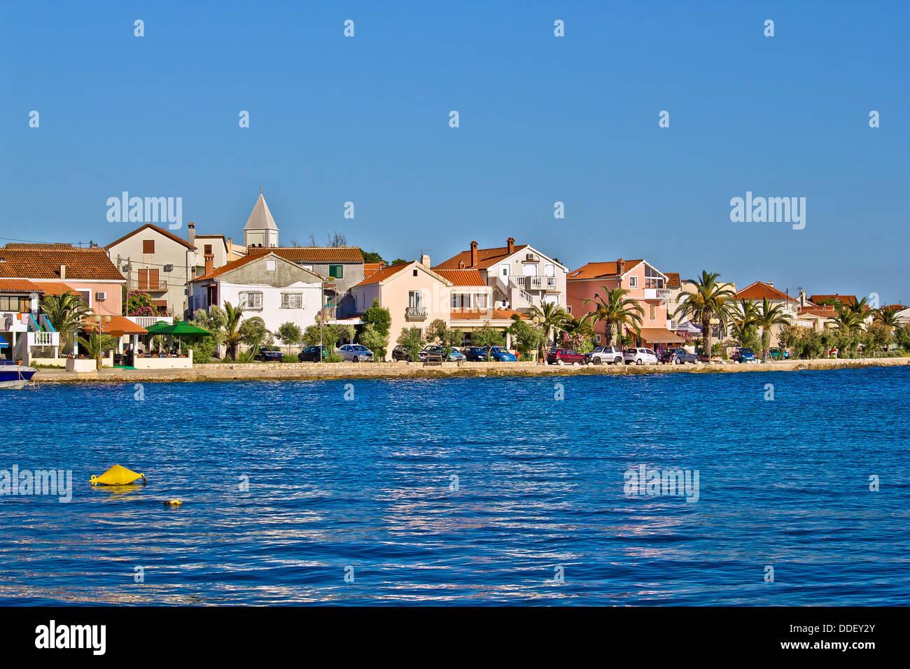 Adriatic Town of Petrcane waterfront, Dalmatia, Croatia - Stock Image