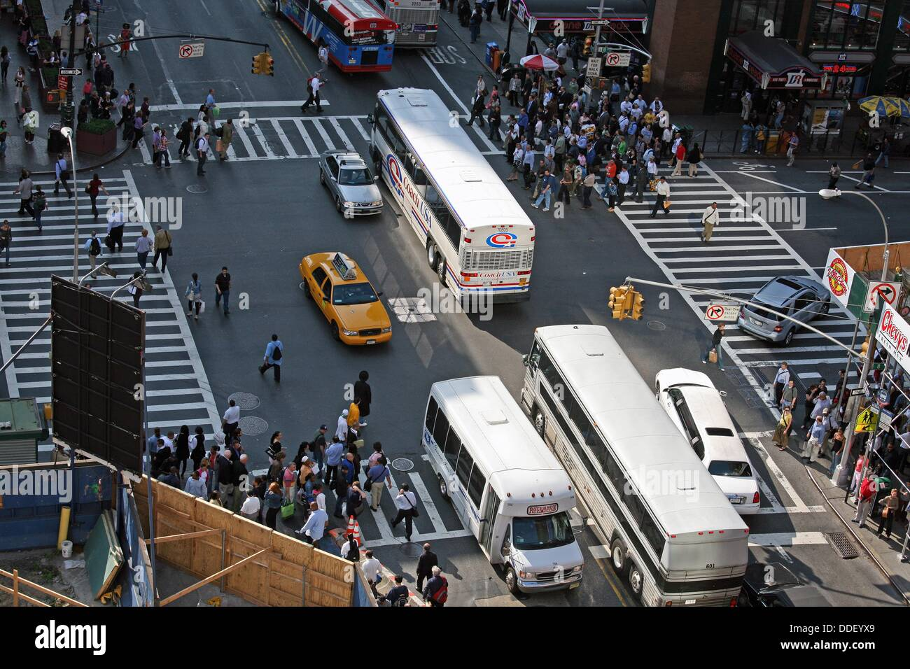 42nd Street shot from above - Stock Image