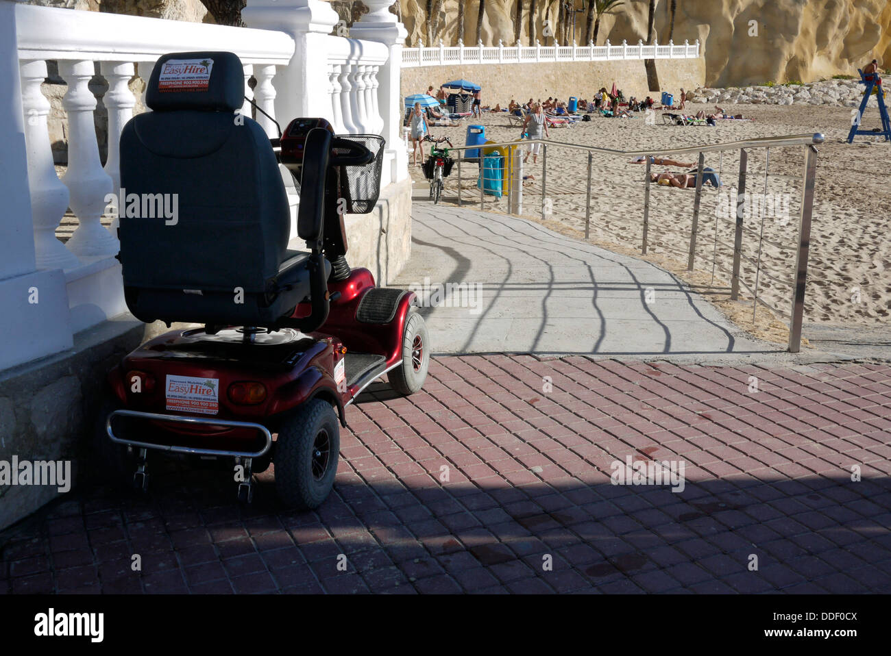 disability access to the Beach in Benidorm Costa Blanca Spain - Stock Image