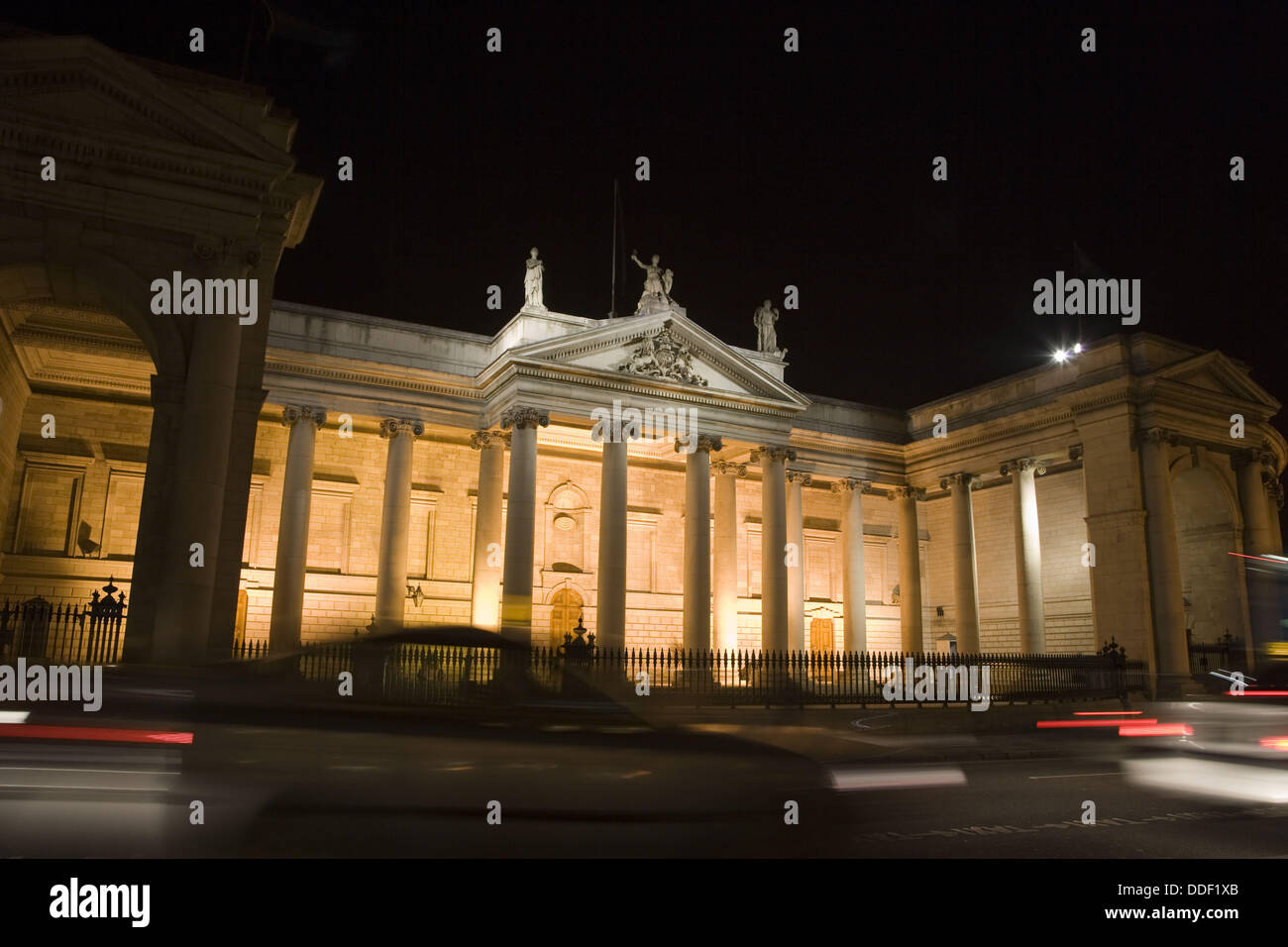 Bank of Ireland in Parliament Square. Dublin, Ireland - Stock Image