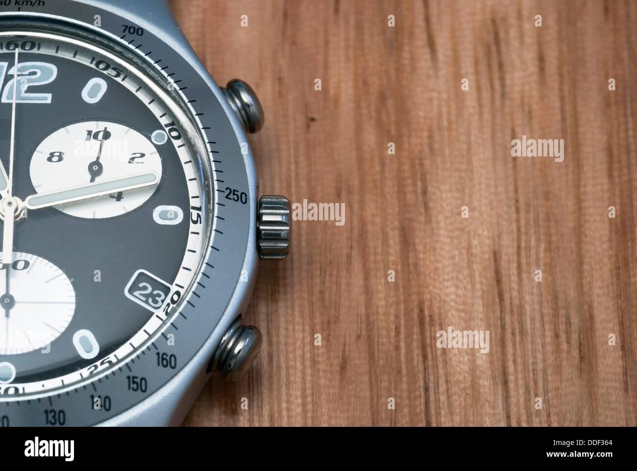 chronograph wrist watch - Stock Image