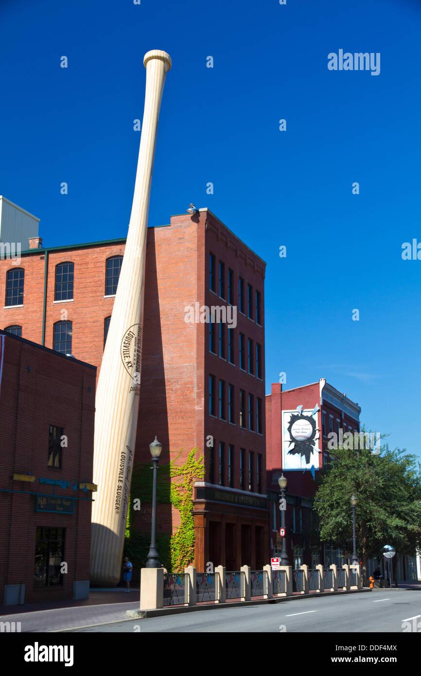 The Louisville Slugger baseball bat factory and museum producing wooden baseball bats - Stock Image