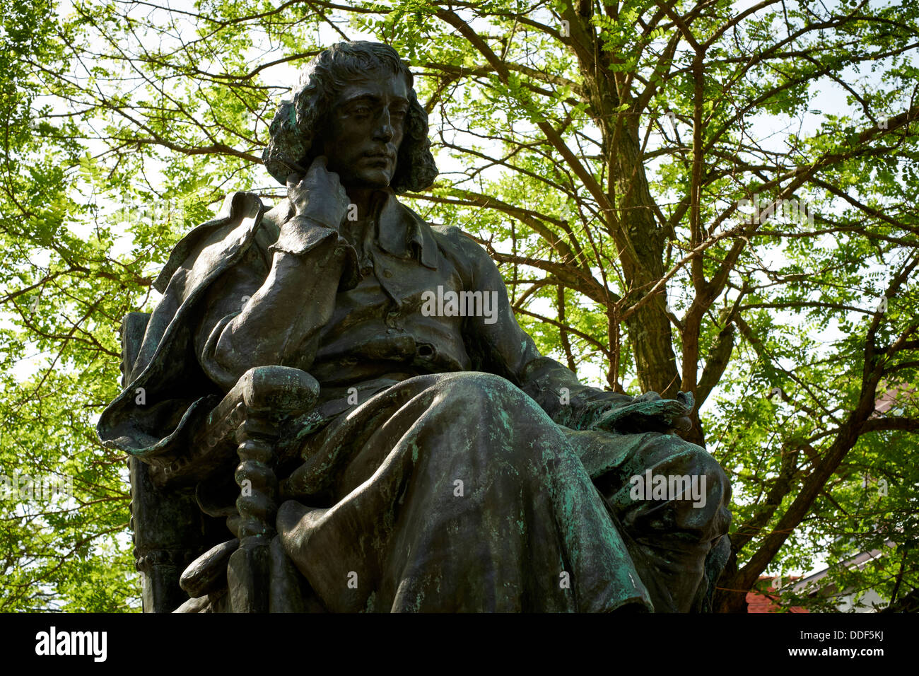 Statue of Spinoza, The Hague, Netherlands - Stock Image