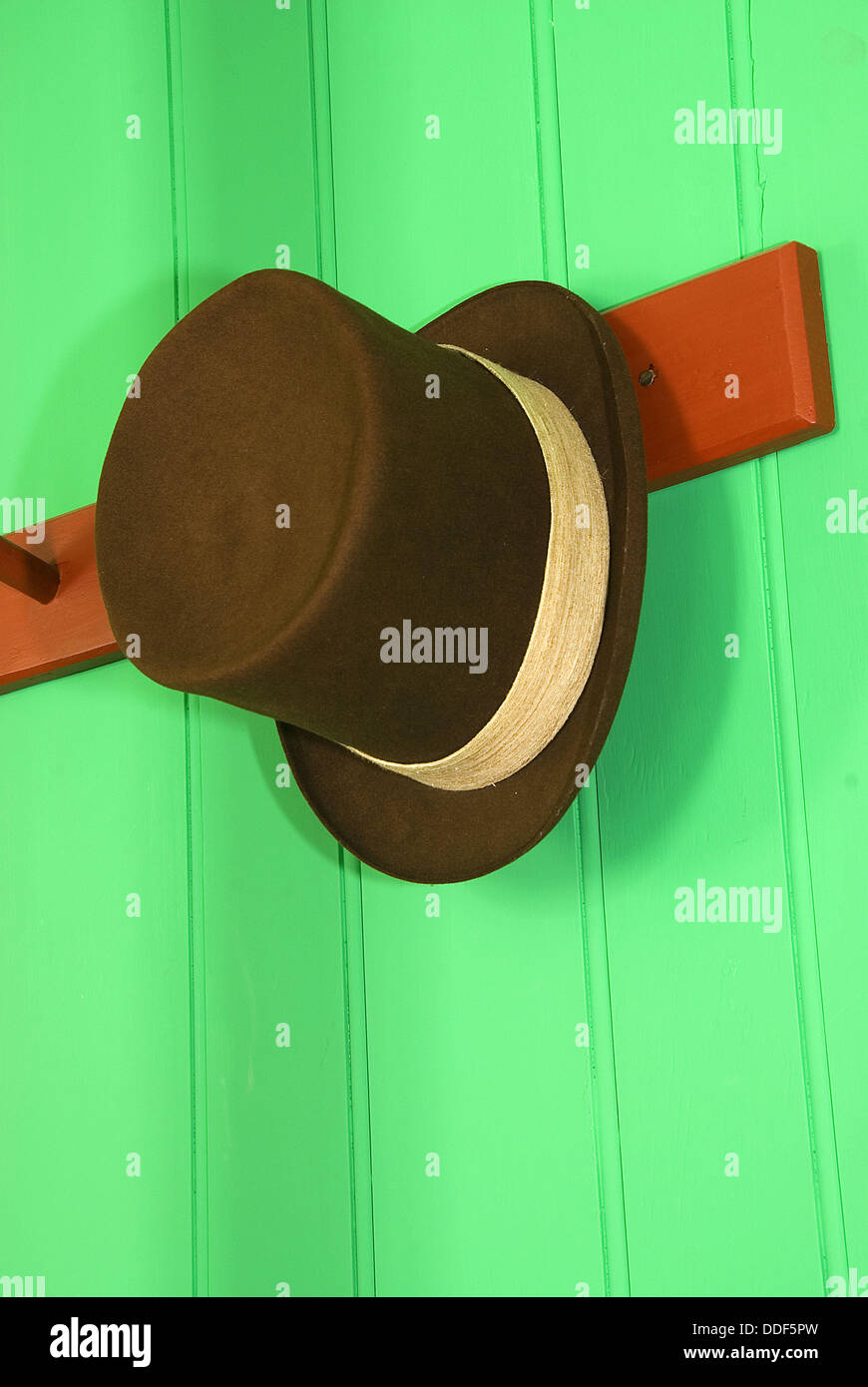Hat at Chief Factor´s Residence, Fort Vancouver National Historic Site, Vancouver National Historic Reserve, - Stock Image