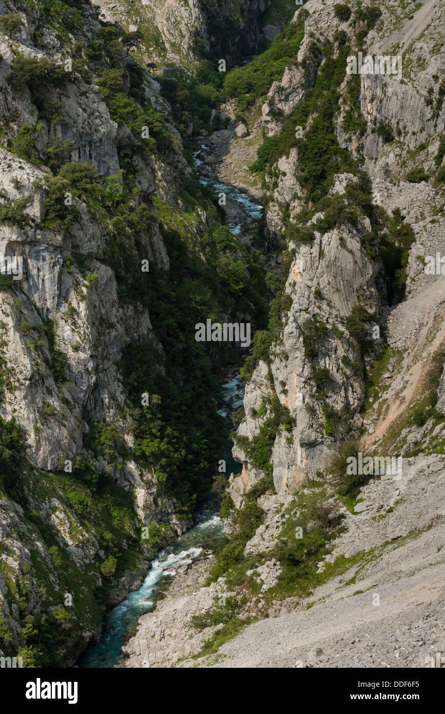 The Cares Gorge, Picos de Europa National Park - Stock Image