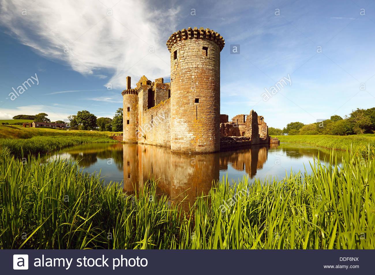 Caerlaverock Castle - Stock Image