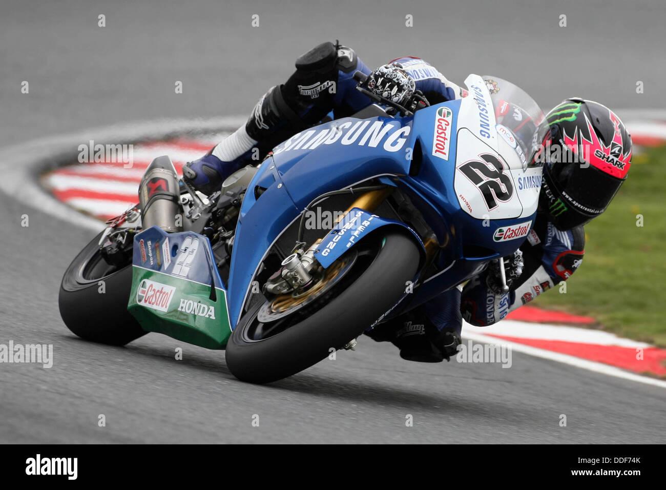 Alex Lowes, Samsung Honda, Oulton Park, 2013 British Superbike Championship - Stock Image