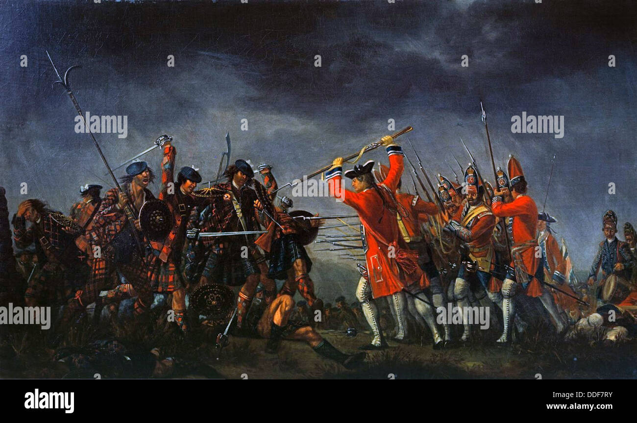 The Battle of Culloden 1746 - Stock Image