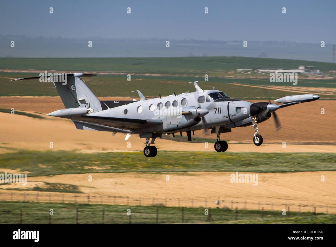 Israeli Air force (IAF) Beechcraft King Air twin-turboprop aircraft - Stock Image
