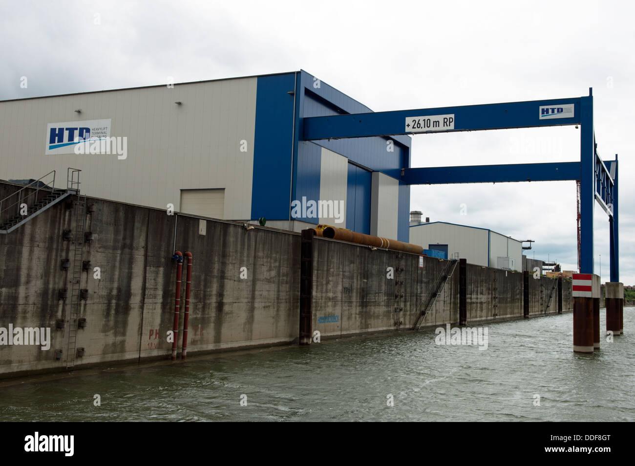 Heavy Lift Terminal (HLT) Duisburg Germany - Stock Image