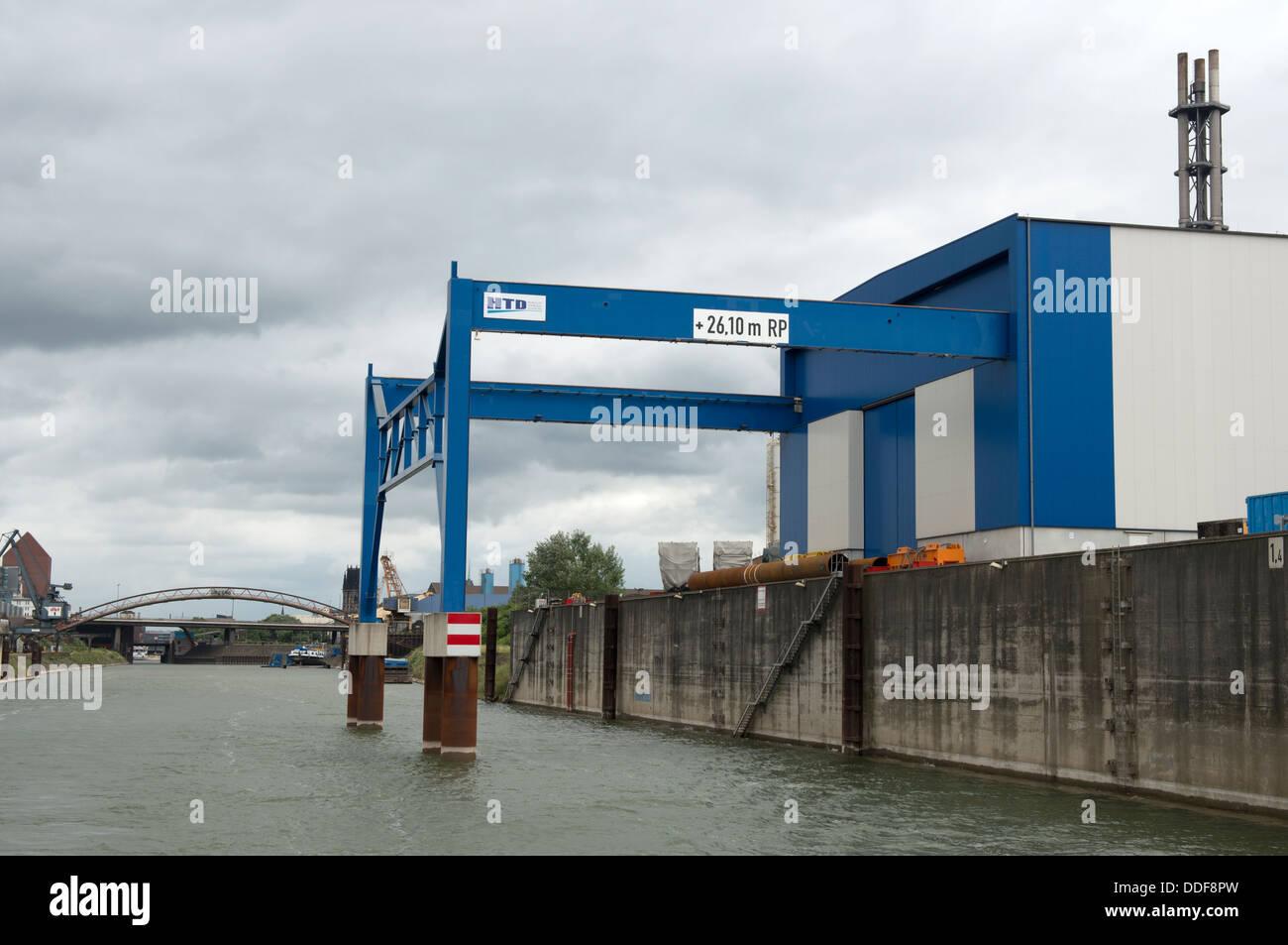 Heavy Lift Terminal (HLT) Duisburg, Germany. - Stock Image