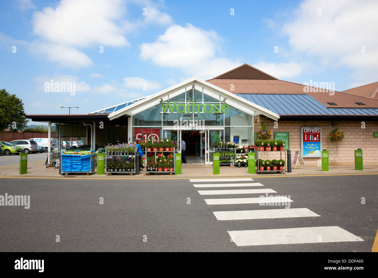 Waitrose Supermarket, Otley, West Yorkshire UK - Stock Image