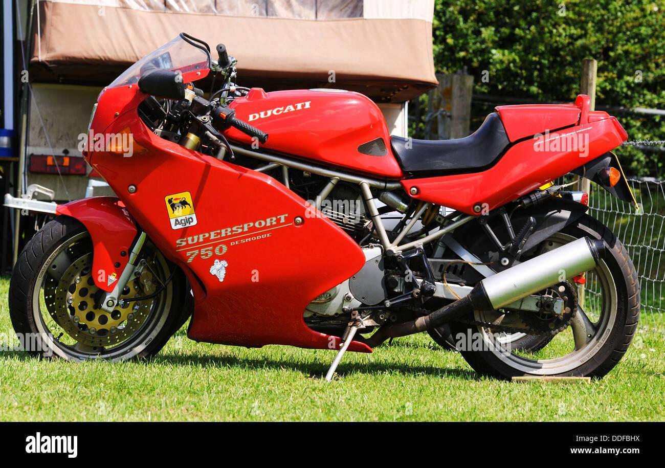 Ducati 750 motorcycle - Stock Image