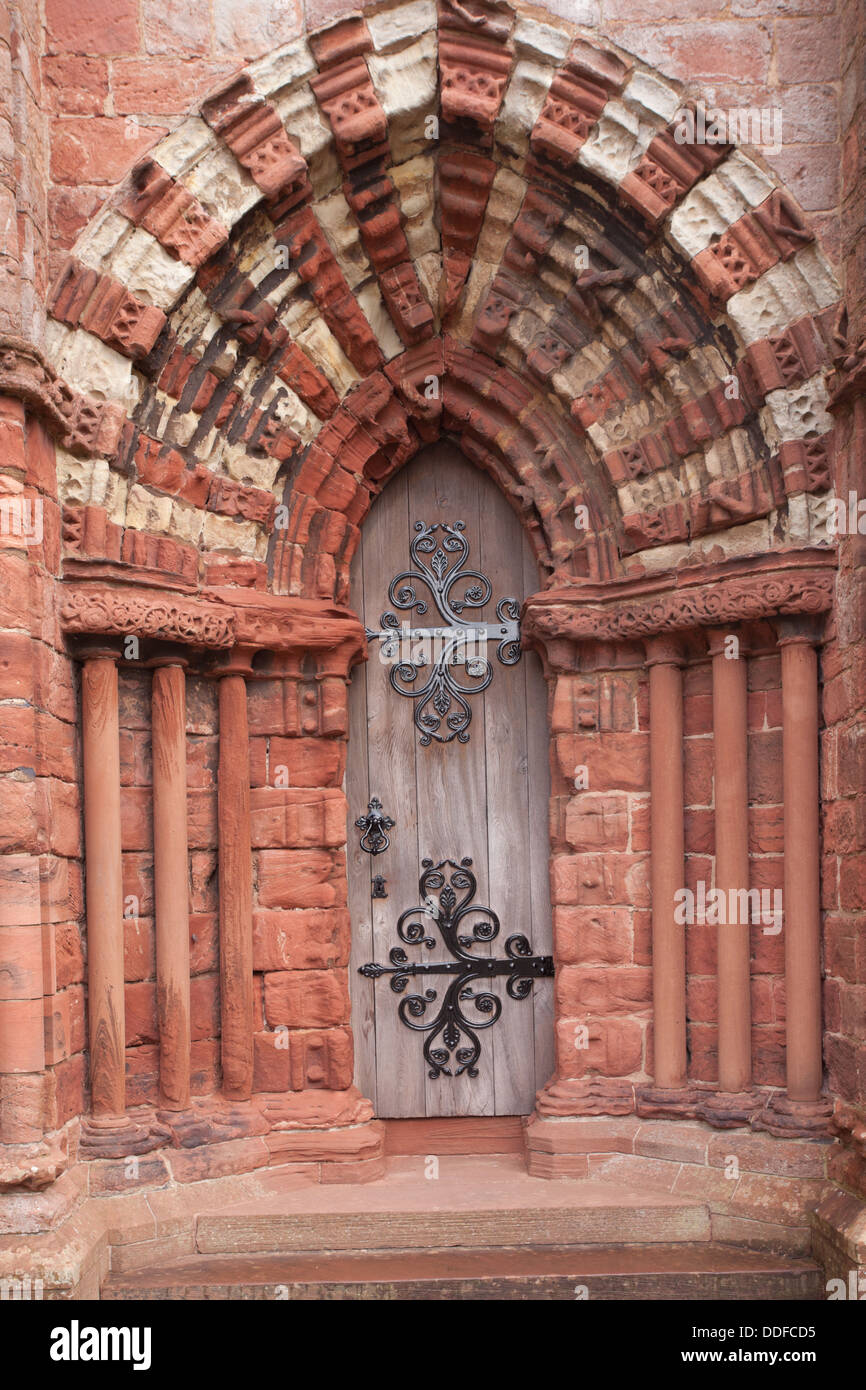 Doorway or portal in St Magnus' cathedral, Kirkwall, Orkney, Scotland UK - Stock Image
