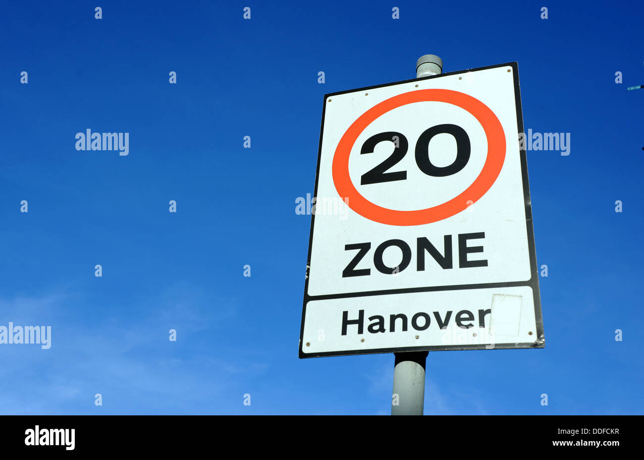 20 MPH speed limit area in Hanover district of Brighton UK - Stock Image