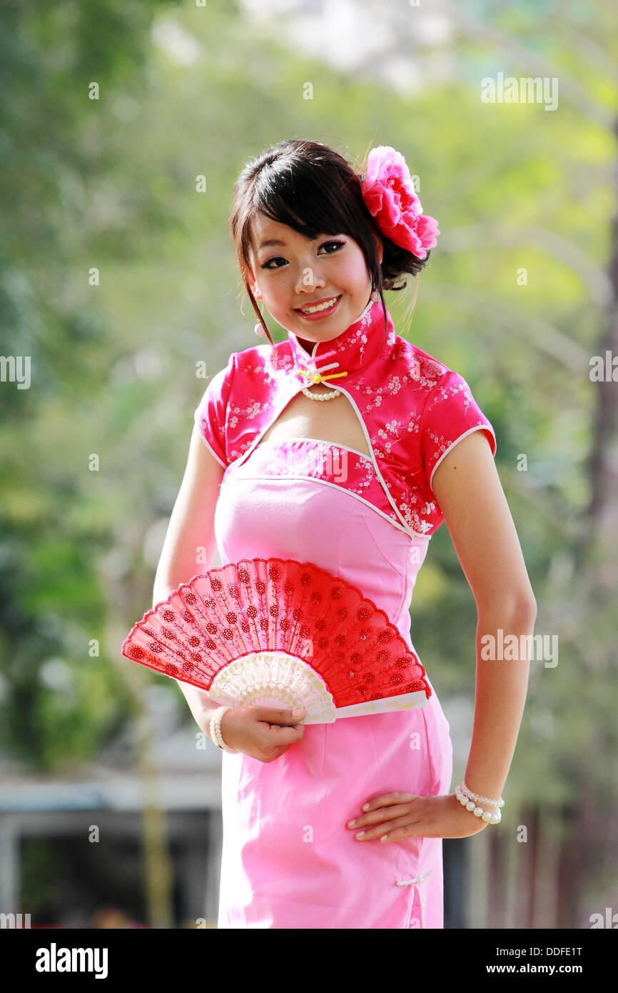 Women Dressed in Chinese Traditional Costume ChiongSam Malaysia. - Stock Image  sc 1 st  Alamy & Women Dressed In Chinese Costume Stock Photos u0026 Women Dressed In ...