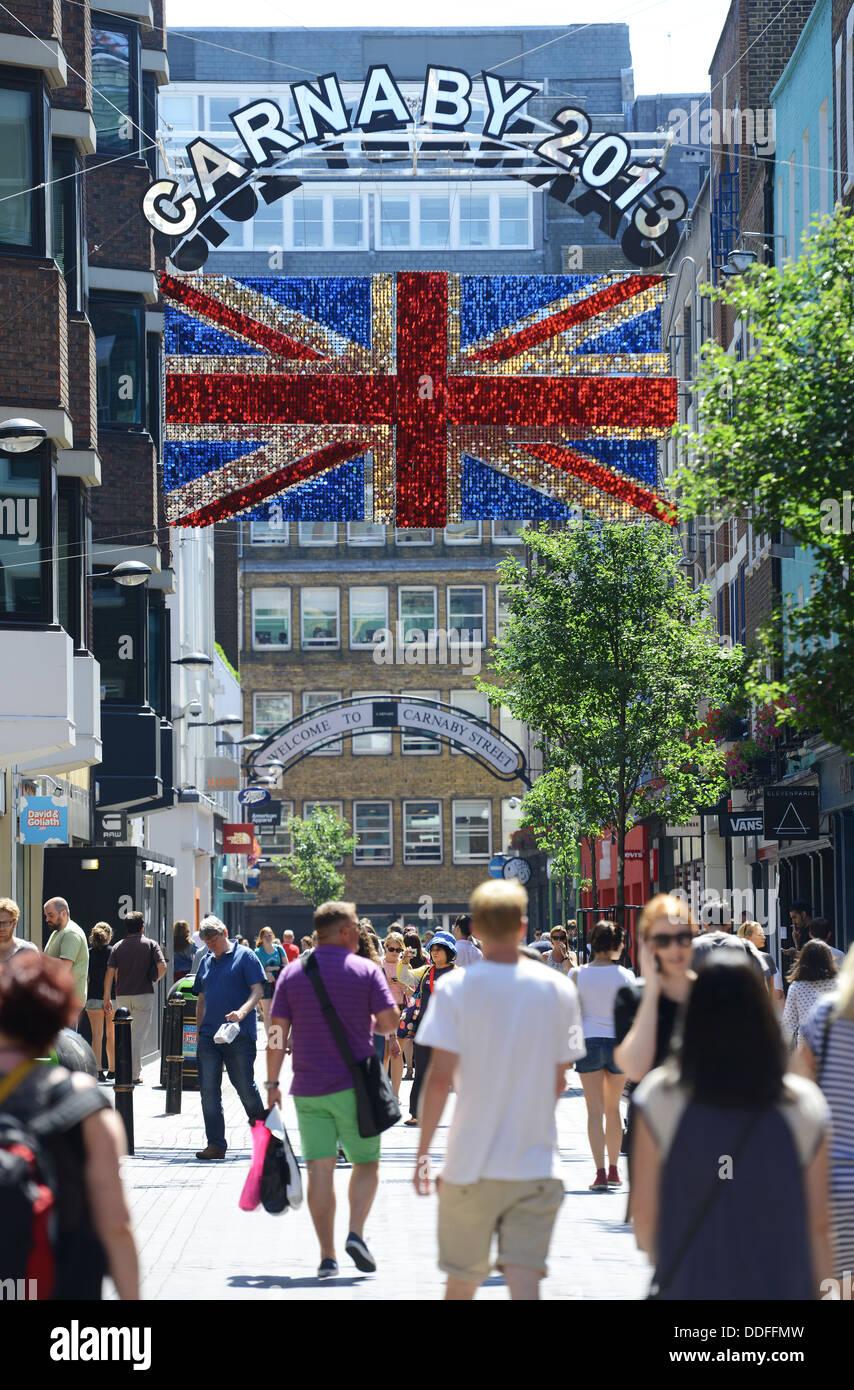 Carnaby Street, London, Britain, UK - Stock Image