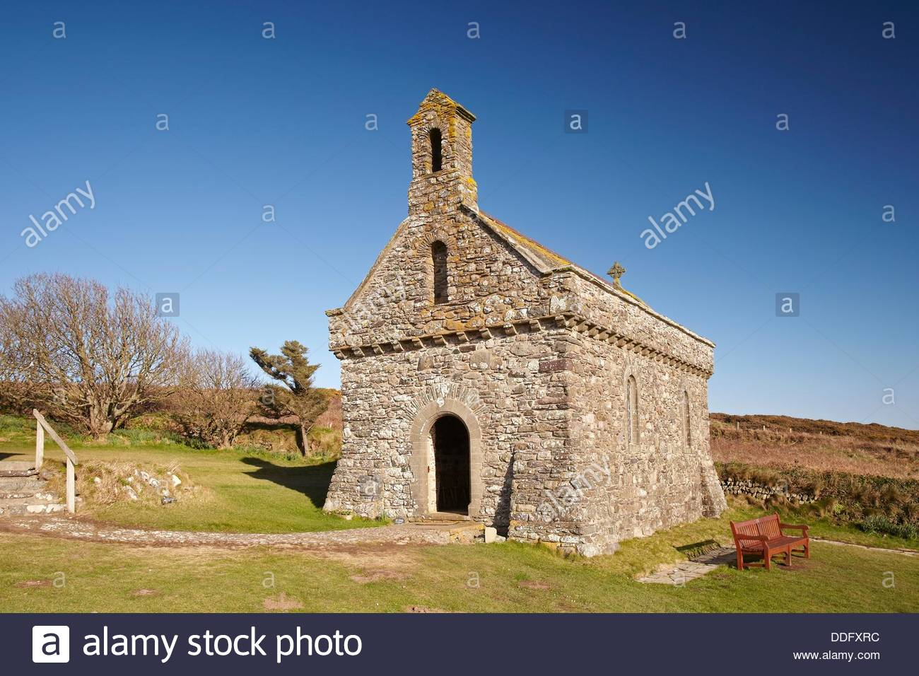 Chapel of Our Lady and St Non, near St Davids, Pembrokeshire, Wales, UK. - Stock Image