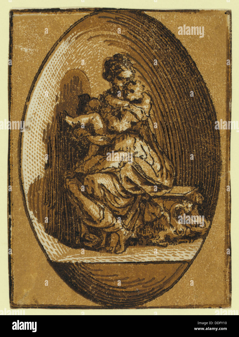 The Virgin in an oval, between ca. 1520 and 1700, Parmigianino, 1503-1540 - Stock Image