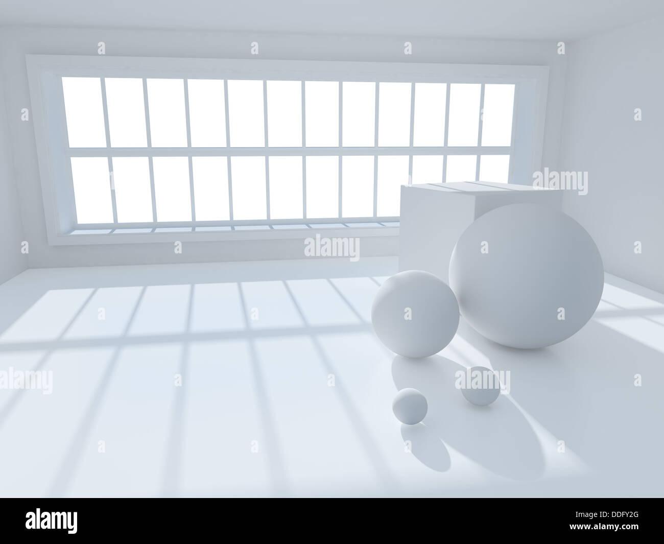 3d interior architecture - Stock Image