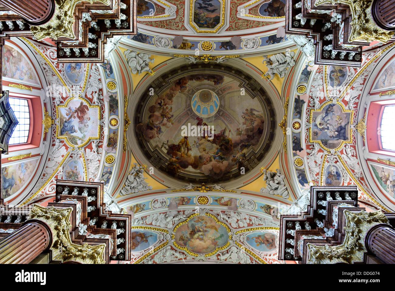 St Stanislaus Basilica Poznan, Wielkopolska province Poland. - Stock Image