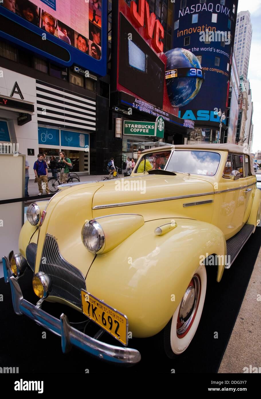 Classic Car Show Times Square Manhattan New York City New York - Classic car show york