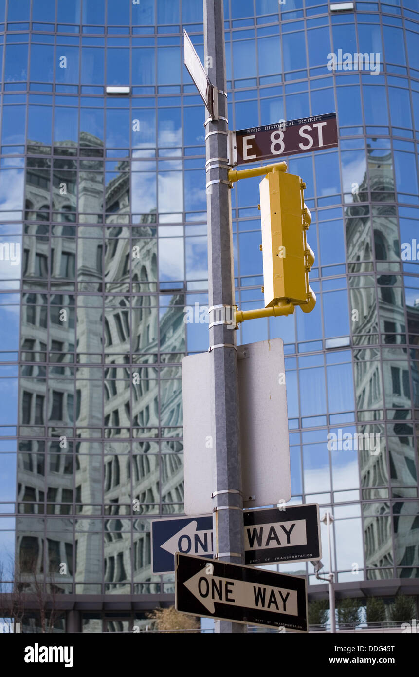 Street 8 in LAFAYETTE ST at ASTOR PL, New York, USA - Stock Image