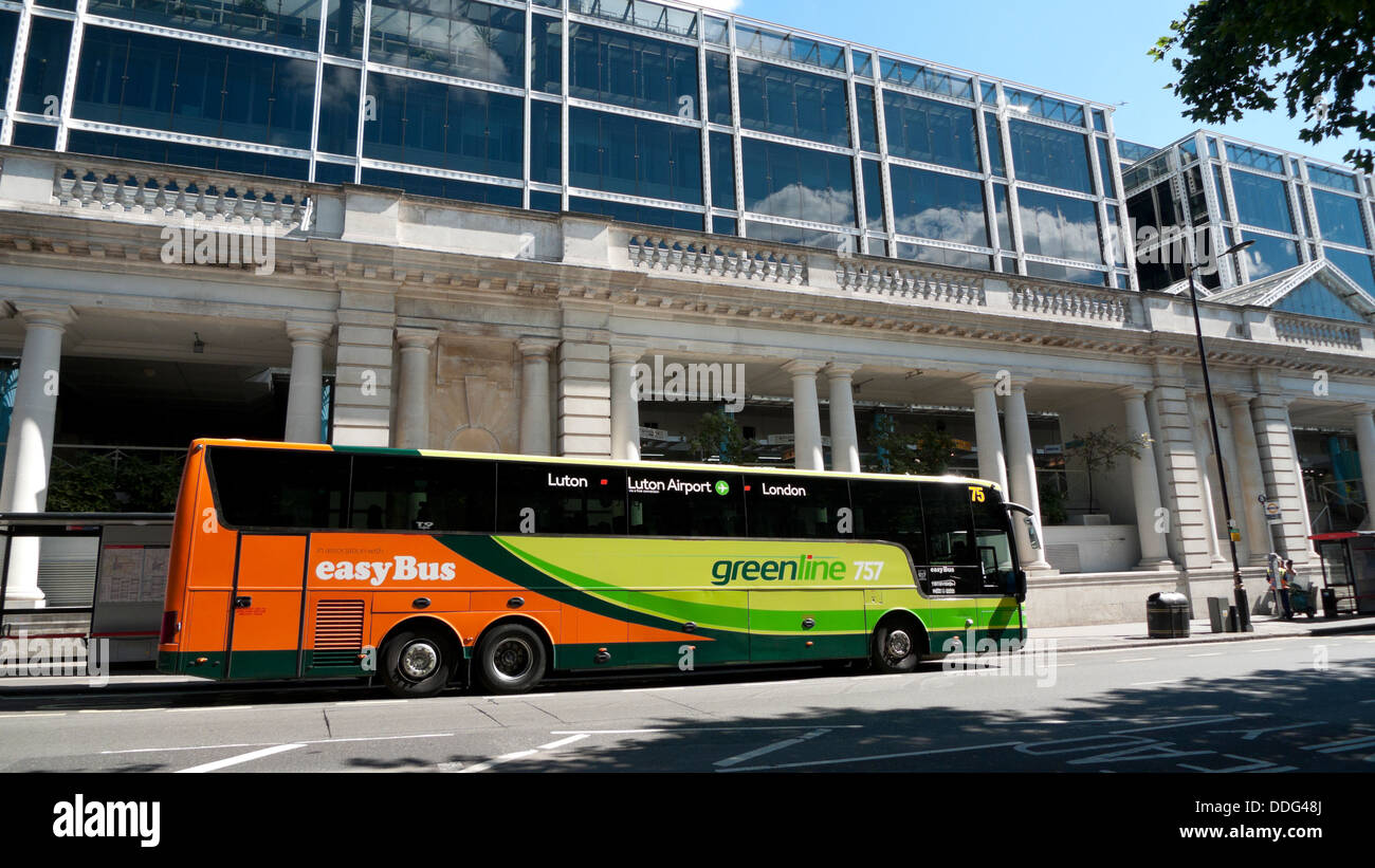 best selling sold worldwide 50% price A London EasyBus parked near Victoria Coach Station London ...